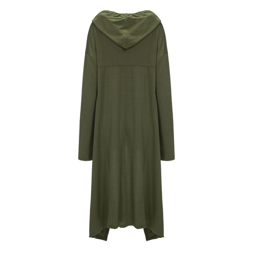 Preself Oversize Sweter Z Kapturem Bluza Kobiety Hoody Blaty Kobiet Luźna Z Długim Rękawem Płaszcz Z Kapturem Na Co Dzień Znosić Pokrywa Swetry Ubrania 12