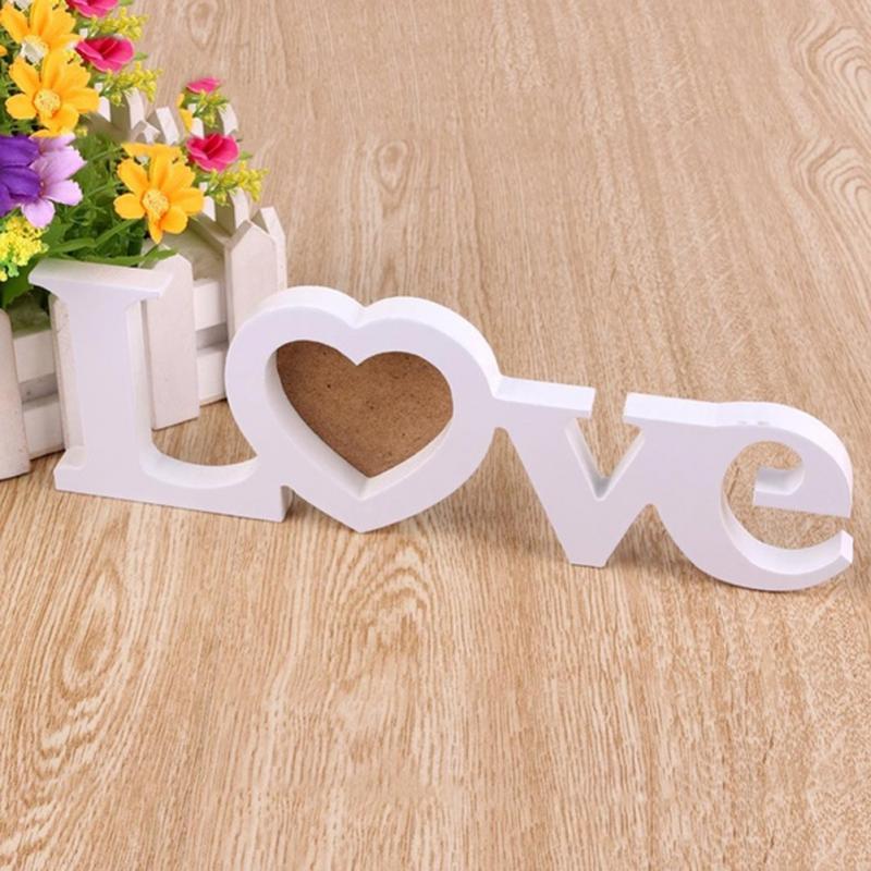 Marcos de fotos de madera decoración para la casa Mona regalo decoración de pared diseño de amor romántico marco de fotos decoración de boda europea