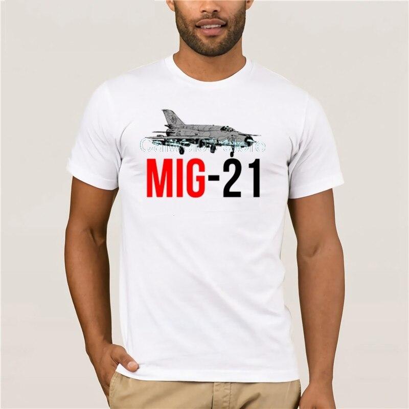 Camiseta a la moda para hombre MIG 21, avión aéreo para hombre, ropa gris, piloto 3D, Bomber, militar, para hombres, Camiseta con estampado divertido de dibujos animados, tendencia