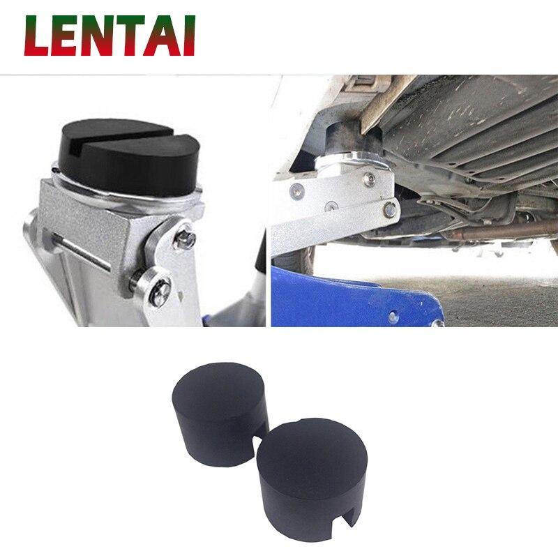 LENTAI 1PC Car Jack Rubber Disc Pad Jacking Lifting Disk Adapter Tool For Hyundai Solaris I30 creta IX25 Suzuki Swift SX4 Lada