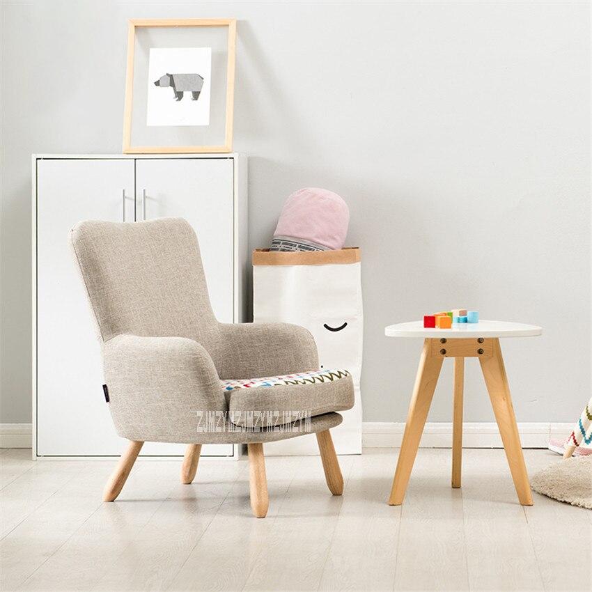 HLM-4054 المعيشة غرفة الأطفال أريكة واحدة كرسي شرفة غرفة نوم المطاط الخشب القدم صوفا القابل للإزالة قابل للغسل منجد كرسي