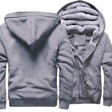 2018 hiver épais sweats à capuche pour hommes marque sweat à glissière de haute qualité mode Hip Hop Streetwear sweat à capuche polaire survêtement vestes