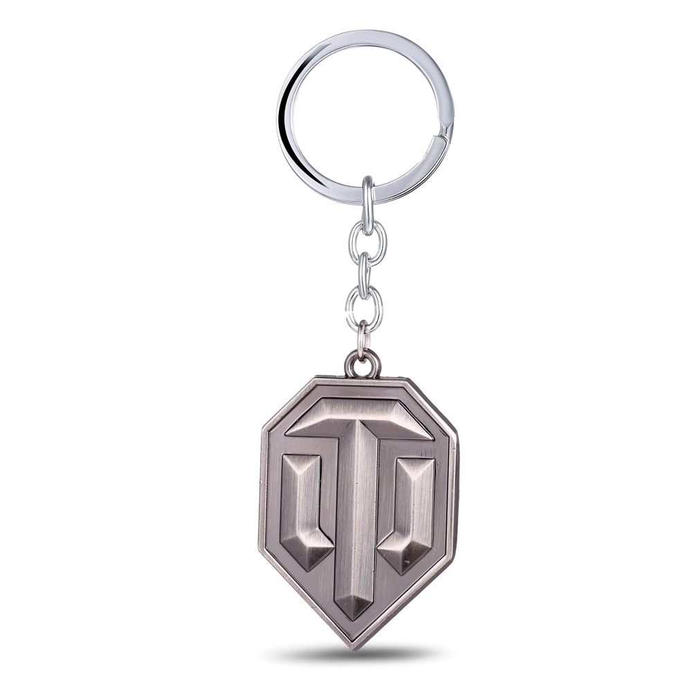 New Fashion World of Tank Keychain Metal Game Logo Key Chain Llaveros Chaveiro Keyring WOT Key Rings Men gift for BF