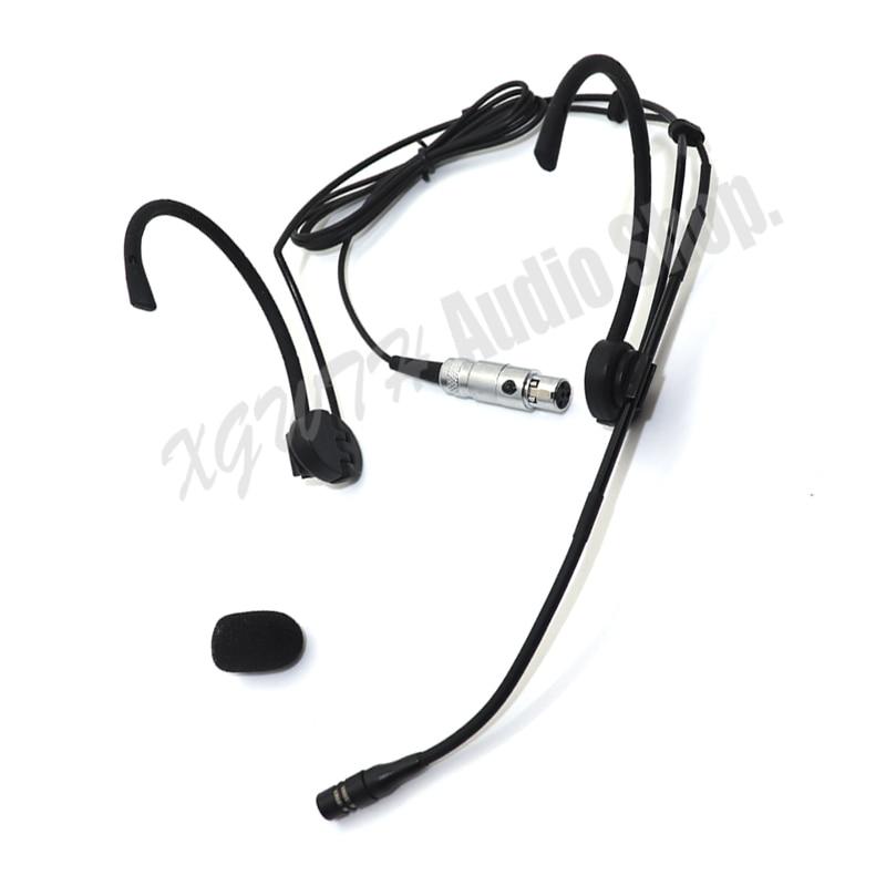 Micrófono para auriculares Xgwth Dual Hook Head para Shure ULX SLX PGX UT transmisor de sistema de micrófono de Radio inalámbrico Beltpack orejas plegables