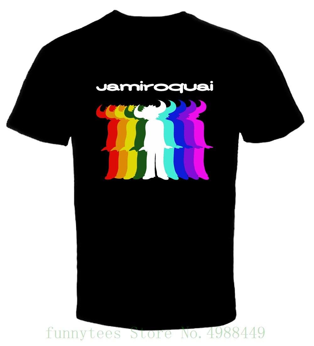 Jamiroquai 2 Nueva camiseta de manga corta con estampado de dibujos animados, Envío Gratis