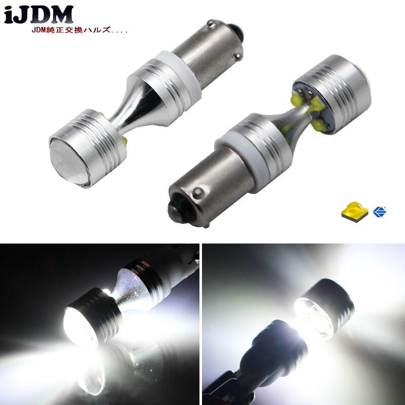 IJDM Auto H21W BAY9s 120 degance 6x5W светодиодный лампы для объектива высокой мощности для заднего хода или парковочных огней, база h21w, bay9s светодиодный, 12 ...