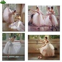 YUMEART-peinture diamant theme  belle danseuse  broderie 5D  points de croix  perles carrees  mosaique  decoration dinterieur  Ballet pour filles
