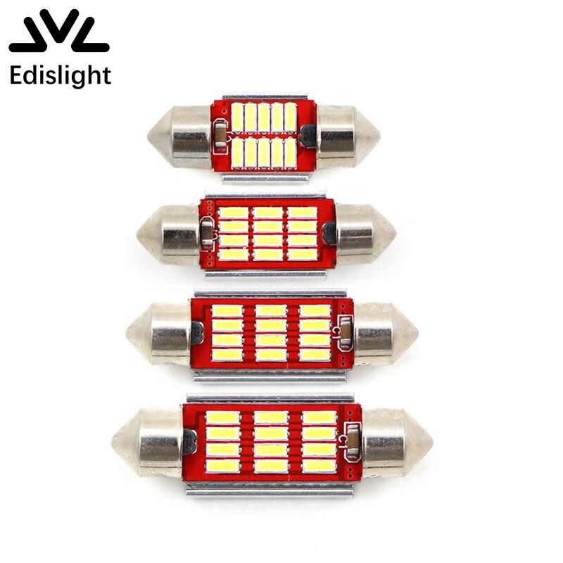Edislight 4Pcs Led-lampen Canbus Kein Fehler 31mm 36mm 39mm 42mm C10W C5W 4014 SMD auto Lampe Beleuchtung Auto Innen Externe Licht