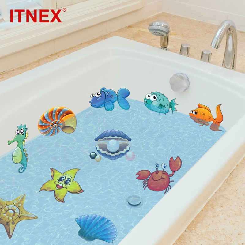 ITNEX 10/20 шт стикер для ванной Немо рыба море мультфильм стикер на стену для душа дети ребенок ванна плитка ванная комната стикер
