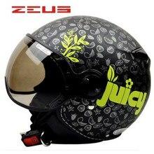 ZEUS bumbee-casque demi-casque   Casque à visage ouvert classique, casque de cyclisme unisexe pour femmes, avec lunettes