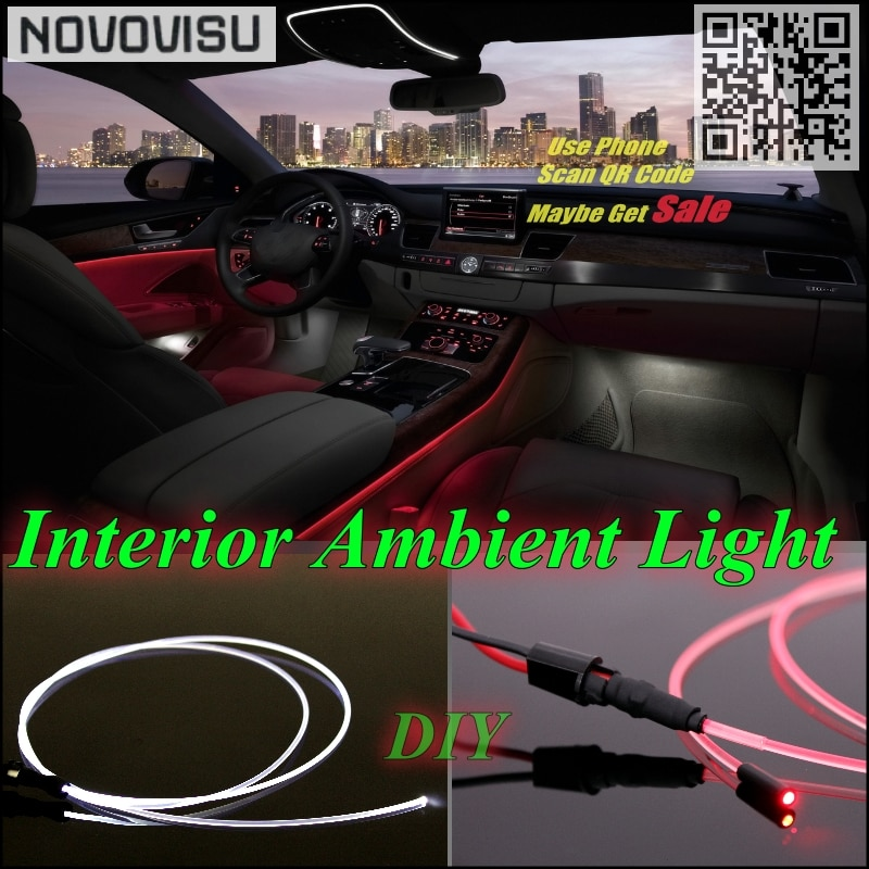 Para Hyundai Genesis Coupe NOVOVISU luz de ambiente interior iluminación del Panel para coche dentro de tira de luz de fibra óptica de banda