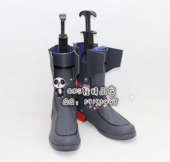 Kantai-حذاء طويل رمادي بزمارك للهالوين ، حذاء تأثيري X002