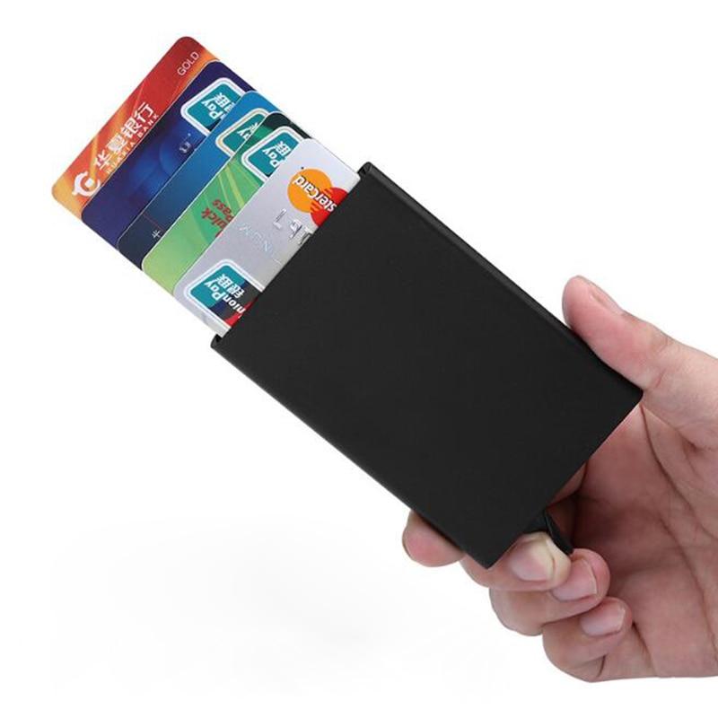 Funda de aluminio para tarjetas de identificación, pinza para tarjetas y efectivo,...