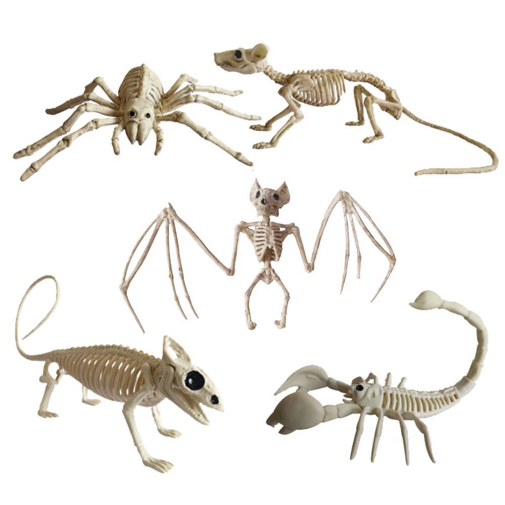 Украшение на Хэллоуин, животные, скелет, кости, жуткий паук, летучая мышь, Скорпион, ящерица, кости, украшения, Хэллоуин, ужасы, реквизит, вечерние