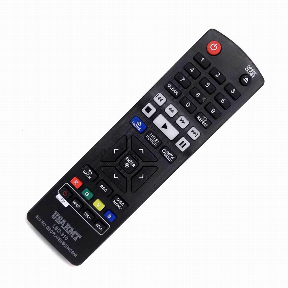 LBD-910 USARMT Para LG Blu-ray DVD Barra de Som Controle Remoto AKB72915301 AKB72913301 AKB72909502 AKB37026863 AKB73575401