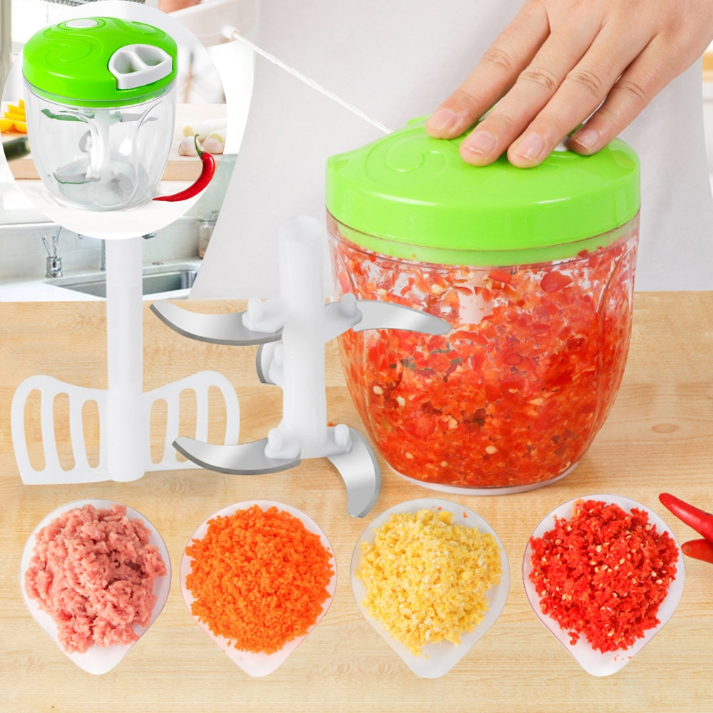 275g Multi-función ensalada de acero inoxidable + ABS + PS trituradora de alimentos procesador Manual máquina trituradora de carne herramientas de cocina