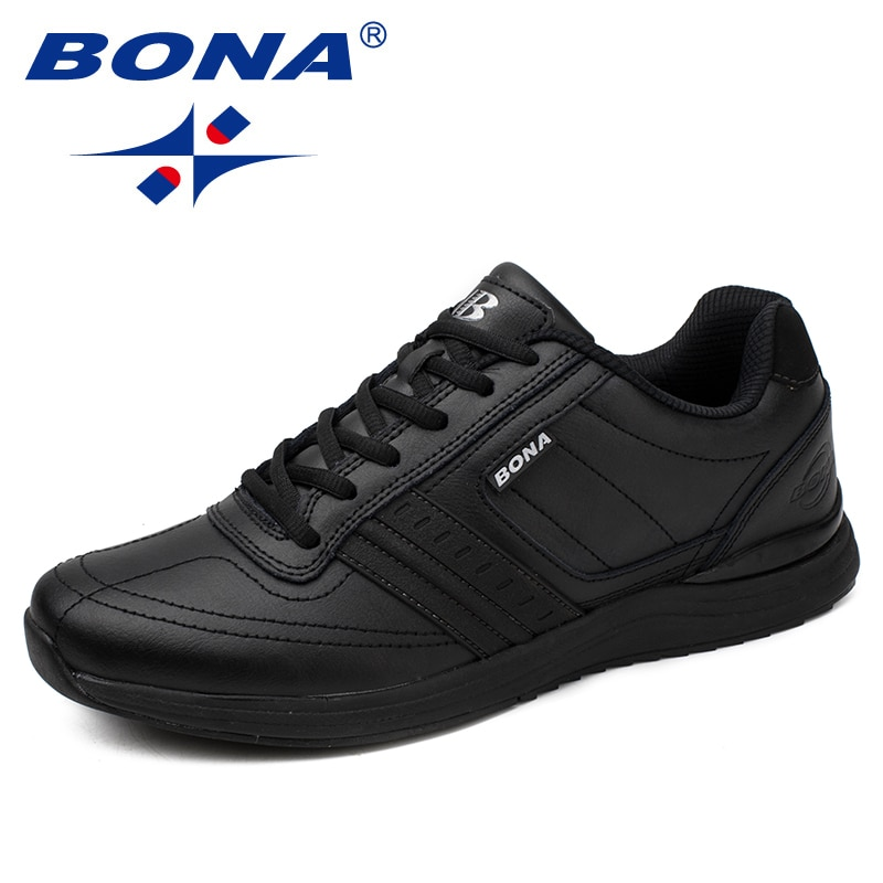 Мужская обувь BONA, мягкая легкая повседневная обувь на шнурках, на мягкой подошве, бесплатная доставка