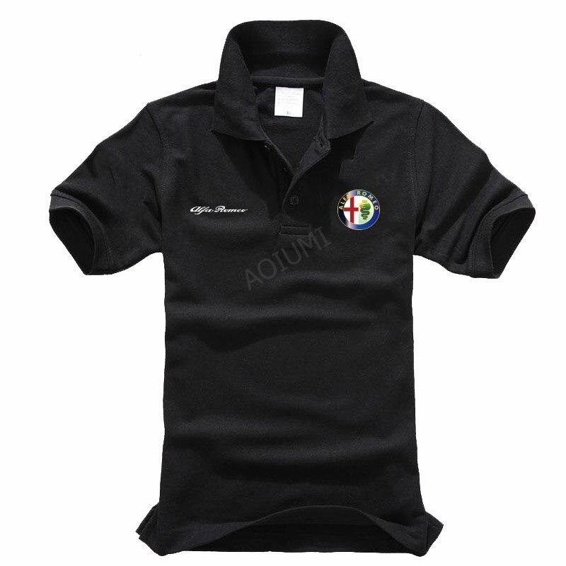Ropa de verano, Polo Casual sólido Alfa Romeo para hombres, Tops, tops de algodón de alta calidad