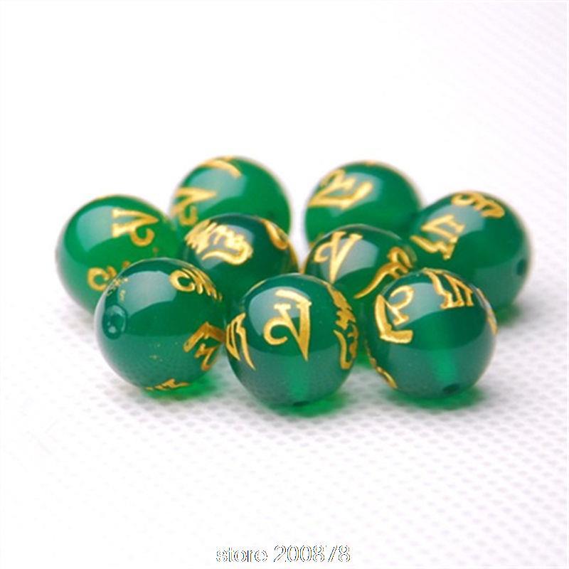 TSB0495 cuentas redonda de cornalina tibetana Mantras cuentas 6/8/10/12/14/16mm OM MANI PADME HUM 10 cuentas por lote