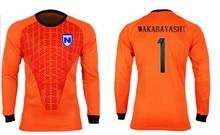 JP Anime Captain Tsubasa Japanese Football Team JFA Goalkeeper Wakabayashi Genzo Cosplay Tee Shirt Soccer Jersey