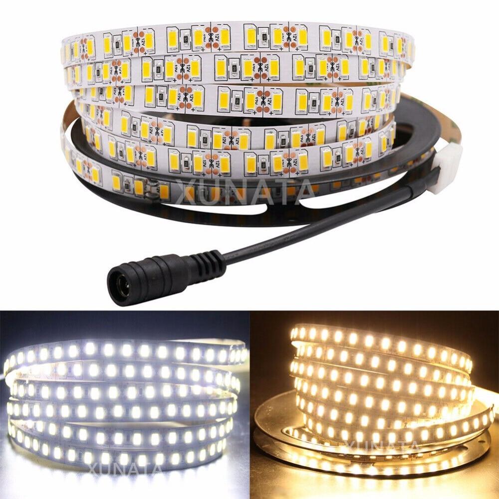Супер яркая СВЕТОДИОДНАЯ лента SMD 5630, 120 светодиодов/м, 5730, гибкая светодиодная лента 5 м, 600, 12 В постоянного тока, не водонепроницаемая лента, 1...