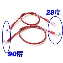 Tube de frein haute résistance moto   Tailles variées de 0.5 m -2.3 m Tube de frein gorge en acier modifié