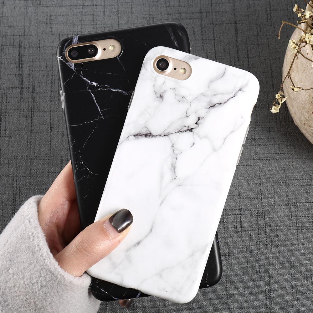 Funda de teléfono de mármol de lujo i 8 para iPhone 8...