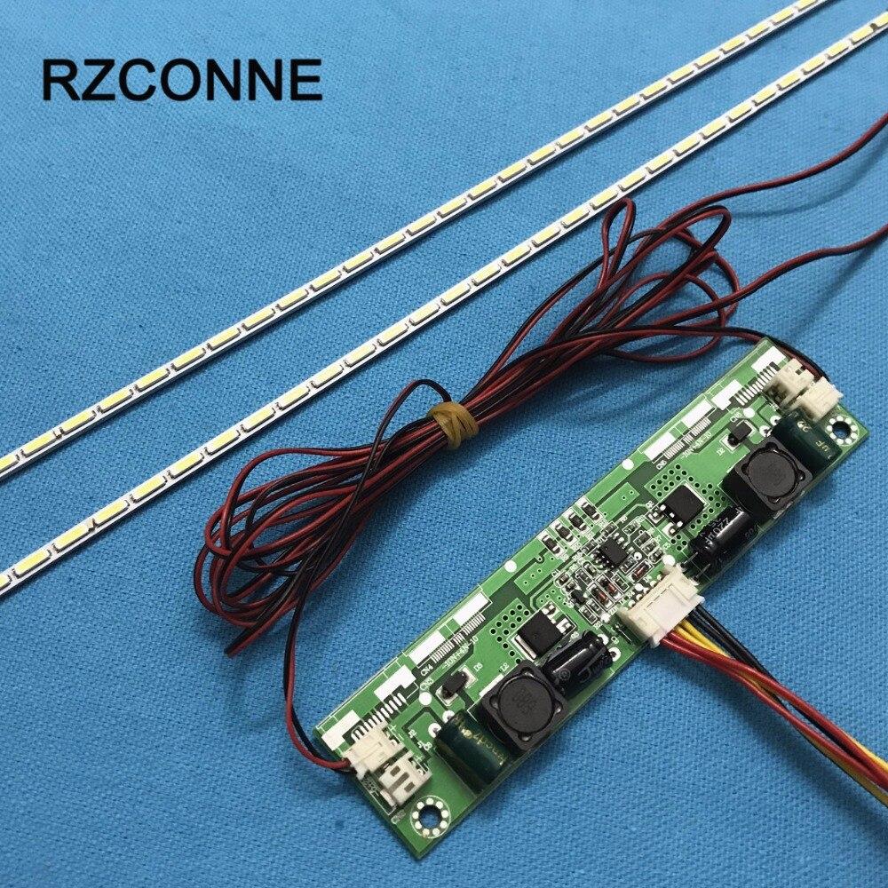 Светодиодная лента для подсветки 609 мм, обновленный комплект с алюминиевой пластиной, инвертор 26 -65 для 55 дюймового ЖК-монитора, ТВ-панели, ...