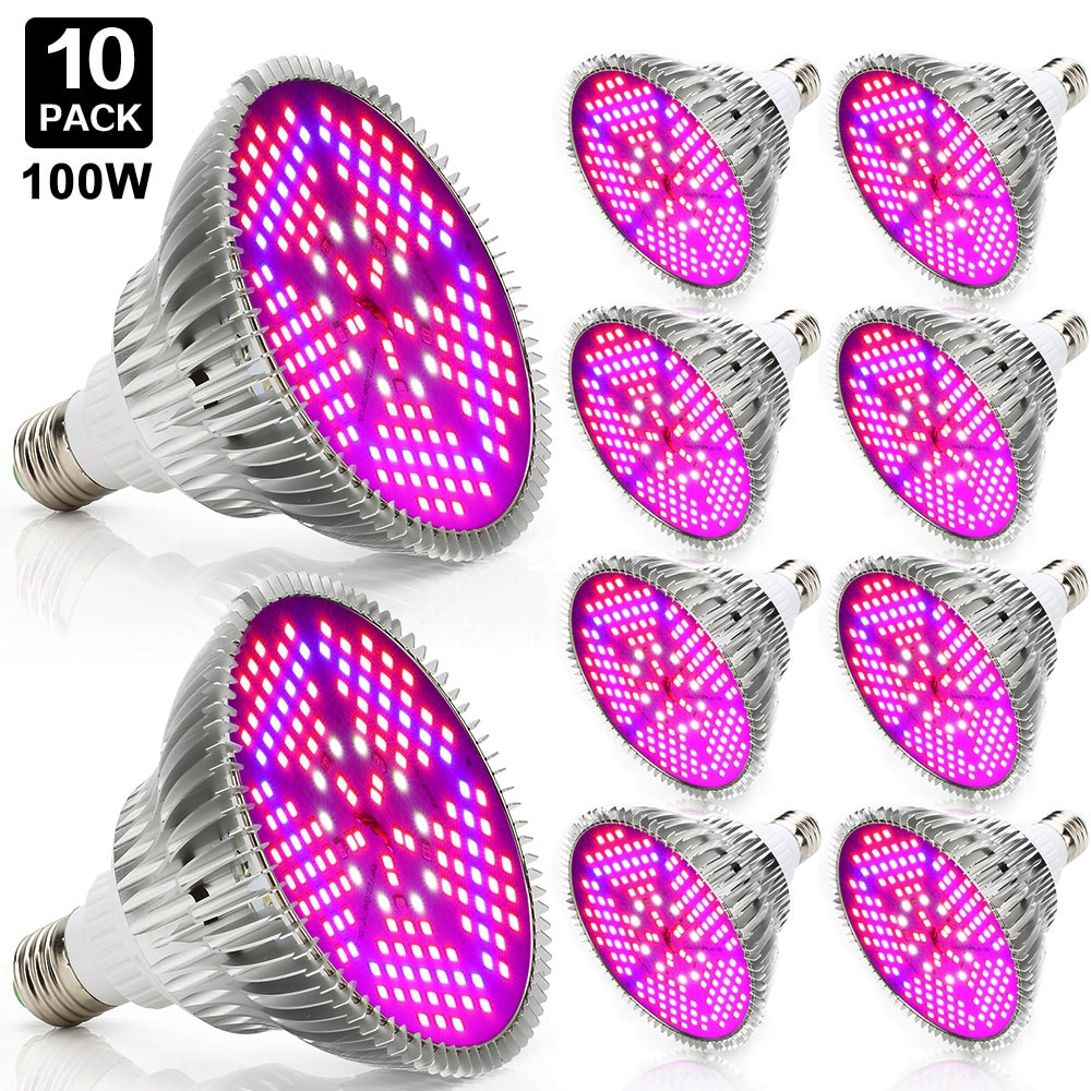 10pcs 100w Grow Led Full Spectrum E27 Led Grow Light Industrial Led Lamp For Indoor Plants Growing Hydroponics System Greenhouse greenhouse led grow light e27 15w 21w 27w 36w 45w 54w led grow lamp for plants flower plant orchids seedlings hydroponics system