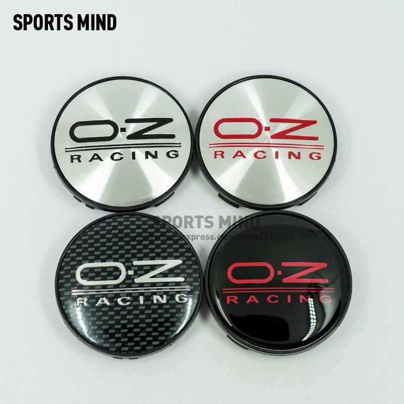 4 unids/lote 8 colores 68MM OZ tapas de cubo de rueda de coche de carreras emblema de coche insignia Logo rueda Centro Cap etiqueta accesorios de estilo de coche