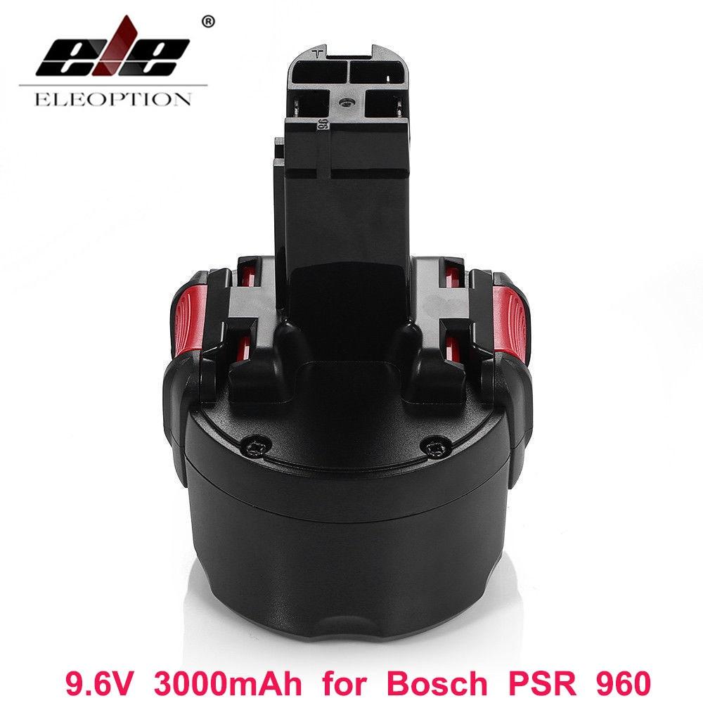 Bateria recarregável de eleoption bat048 9.6 v 3000 mah ni-mh para bosch psr 960 2 607 335 272 32609-rt bpt1041