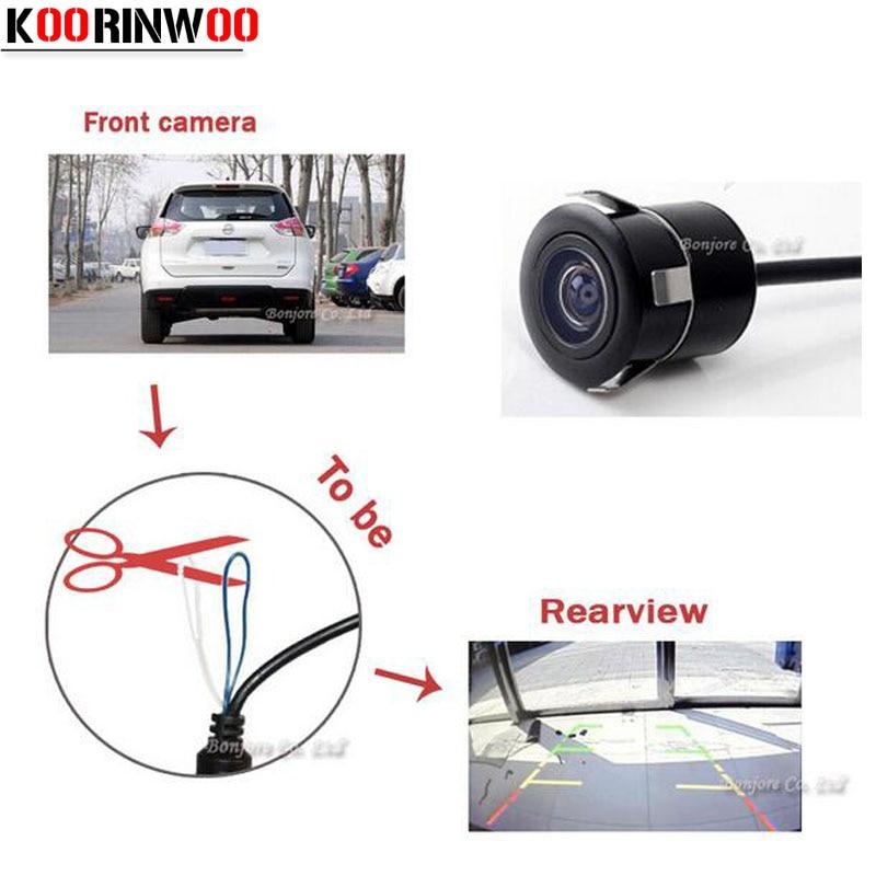 Koorinwoo Auto Parking CCD Car Switch Camera Universal Camera Front camera / Rear View Camera Backup Reverse Parking Assistance