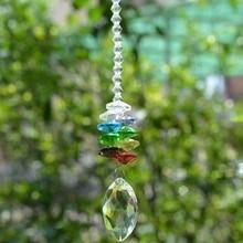Lustres de soleil en cristal Chakra boule   Lustre en cristal, prisme, pendentif arc-en-ciel, Cascade attrape-soleil, attrape-soleil de jardin