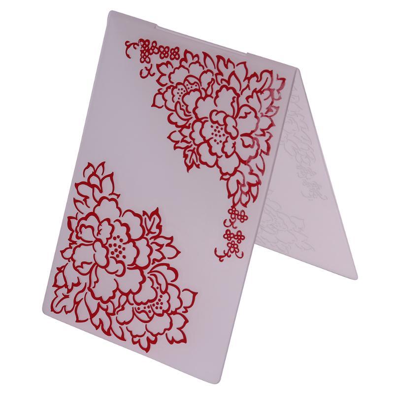 Carpeta de grabado en relieve de plástico Plantilla de carpeta de grabado artesanal plantilla para hacer tarjetas foto álbum de tarjeta de papel Decoración