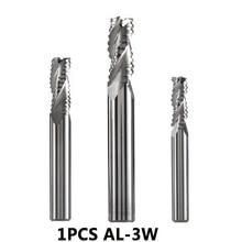 AL-3W carburo de tungsteno sólido 3 flauta desbaste fresa cnc cortador herramientas de corte para aluminio áspero mecanizado profilel