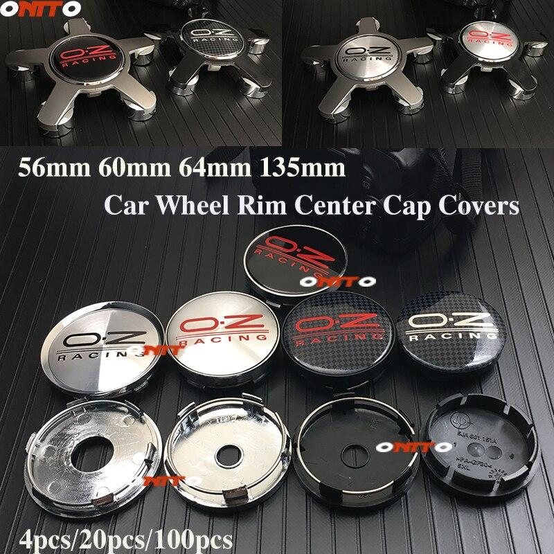 OZ racing-capuchon de roue central   56mm 60mm 64mm 135mm, couvre 5 olores pour BMW Toyota Honda Hyundai VOLVO