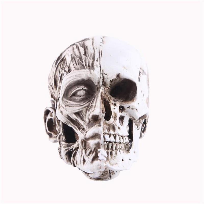 Resin Skull Statue Home Decor Craft Statues For Decoration Art Carving Sketch Medical Model Halloween Decor Figurines Sculpture