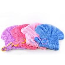 1PCS Beauty Shower Bath Microfiber Fabric Cap Bathing Quick Dry Hair Drying Hat Cap Bathing Accessor