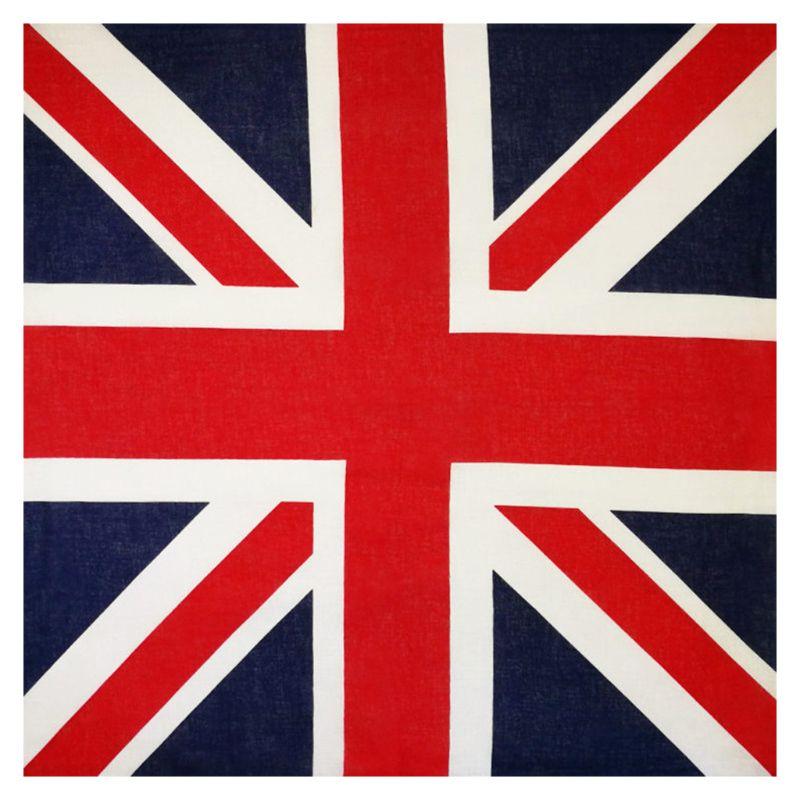 54x54 см, Байкерская бандана унисекс с английским флагом, Байкерская квадратная бандана, для футбольных болельщиков, карнавальный хлопковый платок для головы в стиле хип-хоп, танцевальный носовой платок