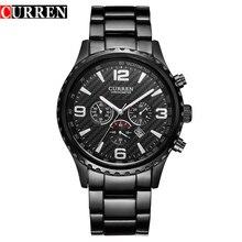 CURREN Top Marke männer Sport Uhr Militär Quarzuhr Männliche Uhr Anzeige Datum Wasserdicht Armbanduhr Relogio Masculino Reloj Hombre