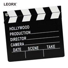 Bois réalisateur Clapper conseil Film Film clins ardoise Photo accessoires enfants jouet noir et blanc