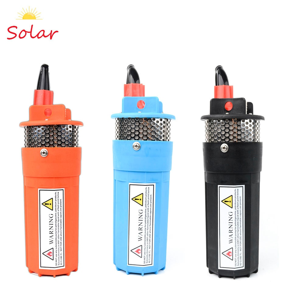dc 12v 24v mini solar power high pressure water pump 70 meter lift diaphragm submersible outdoor garden fountain deep well DC 12V 24V Solar Water Pump High Pressure Solar Power Diaphragm Submersible Deep Well Booster Electric 12V Pump Garden Fountain