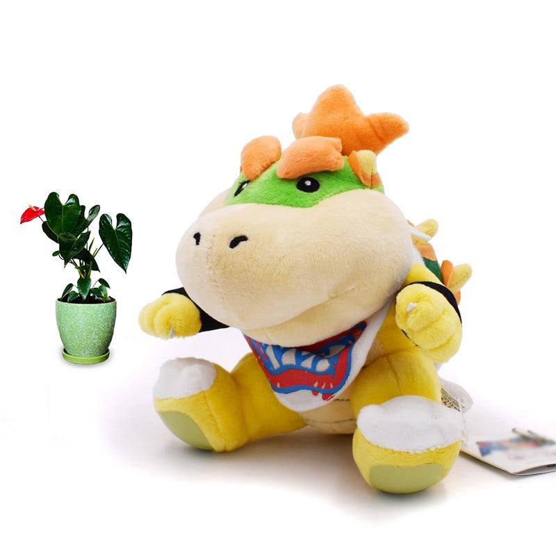 Anime Super Mario Bros Koopalings Bowser JR Koopa Dragon Peluche Doll Plush Soft Stuffed Toy Great Christmas Gift For Children