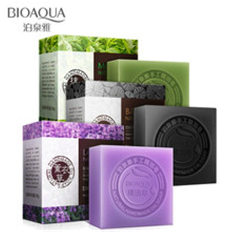 BIOAQUA Natural lavende Essential Oils Handmade Soap Whitening Skin Remove Acne Cleaning Dirt Anti Aging Men/women Skin Care Kit