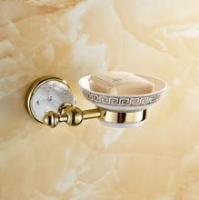 Offre spéciale de vaisselle/support à savon en porcelaine   Porte-savon en diamant doré, Construction en laiton massif, finition chromée, accessoires et quincaillerie de salle de bains
