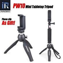 PW10 INNOREL Multifuncional Mini Mesa Tripé Selfie Vara Telefone Clip Holder Para Celulares câmeras Mirrorless DSLR