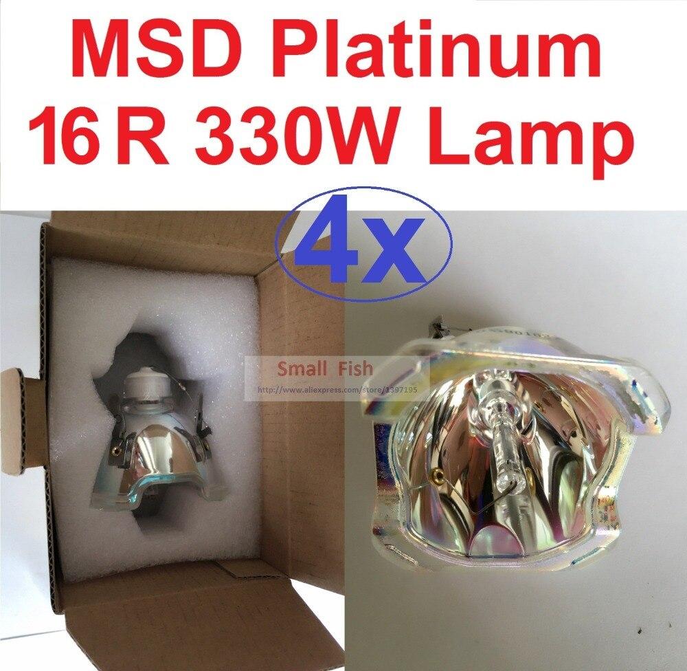 4 1xlot المبيعات المرحلة نقل رئيس ضوء مصباح MSR 330W سيريوس HRI16R مصباح MSD300W البلاتين 15R Sharpy شعاع غسل تأثير ضوء لمبات
