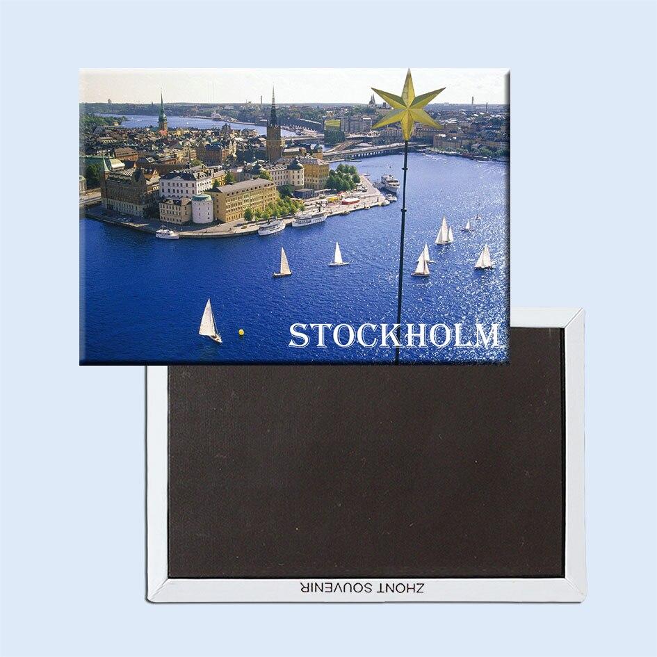 Gamla_stan_stockholm_suède aimants pour réfrigérateur 21509 région naturelle cadeau touristique