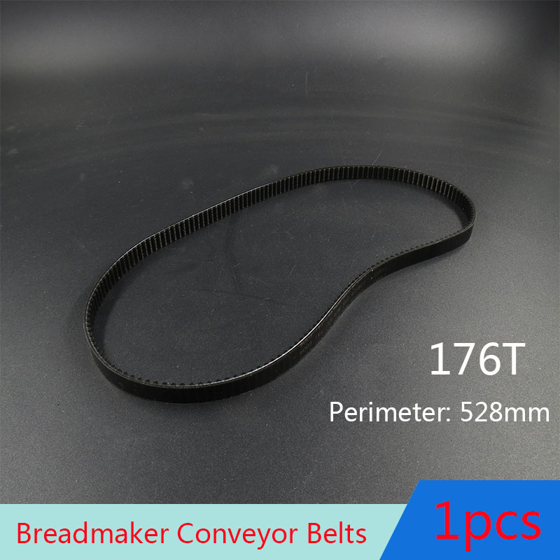 Cinta de 176T perimetral de 528mm, cintas transportadoras, partes de máquina para hacer pan, correa de panadería, accesorios para electrodomésticos de cocina