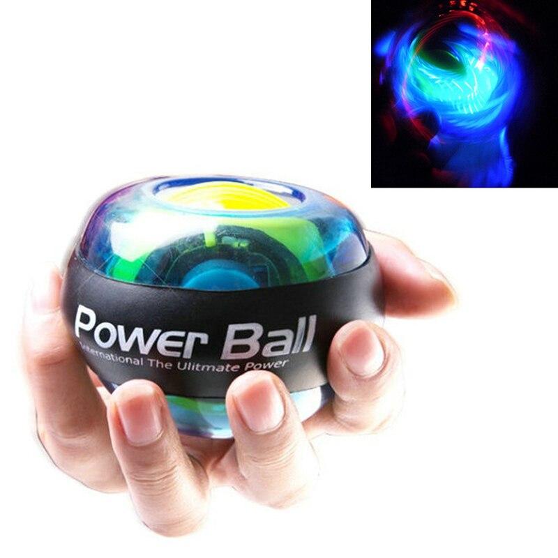 Entrenador, Bola de giroscopio relajante, bola LED para la muñeca, brazo de muñeca, fuerza muscular, ejercicio de fuerza, pelota de fortalecimiento, empuñaduras de mano, equipo de Fitness